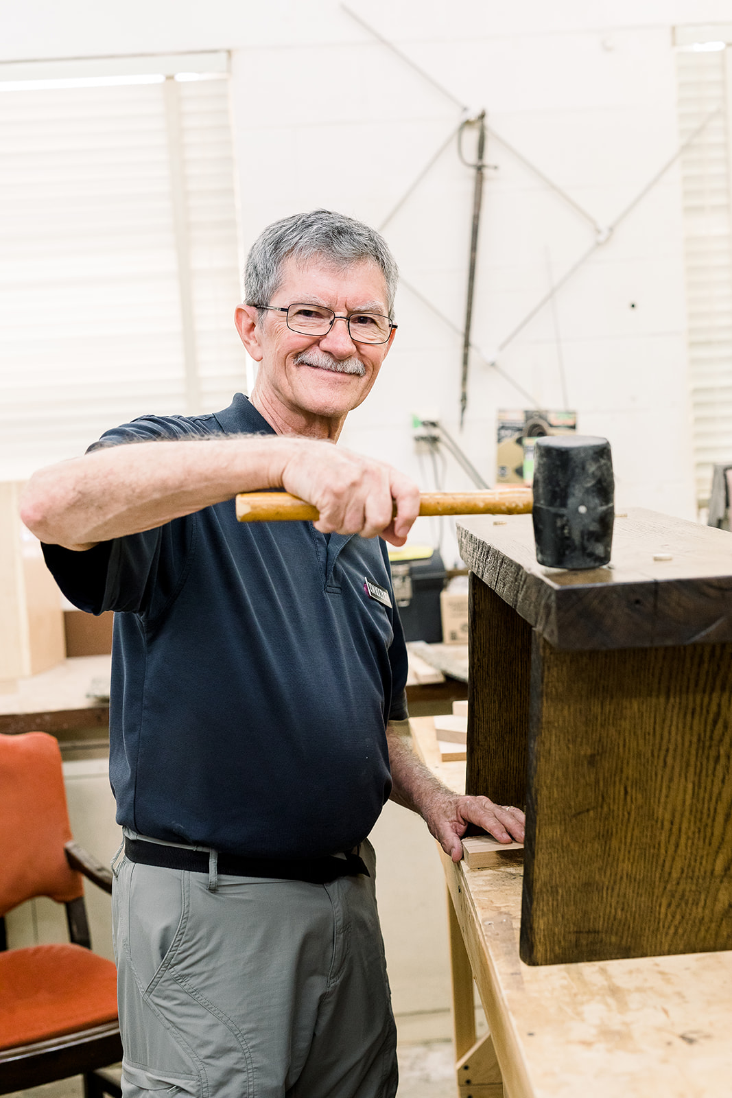 Residents stay active in our campus woodshop.