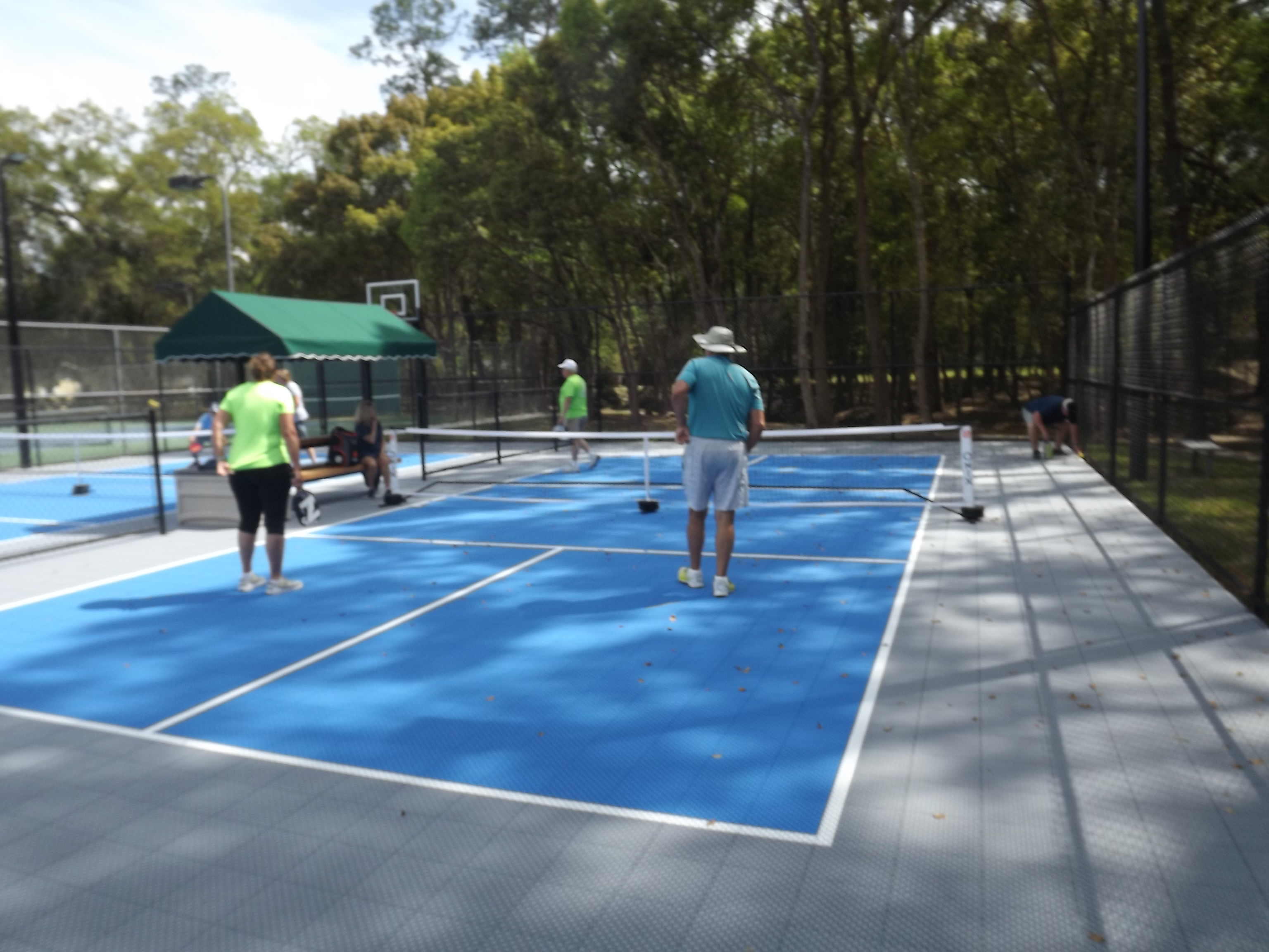 Pickle Ball game in progress