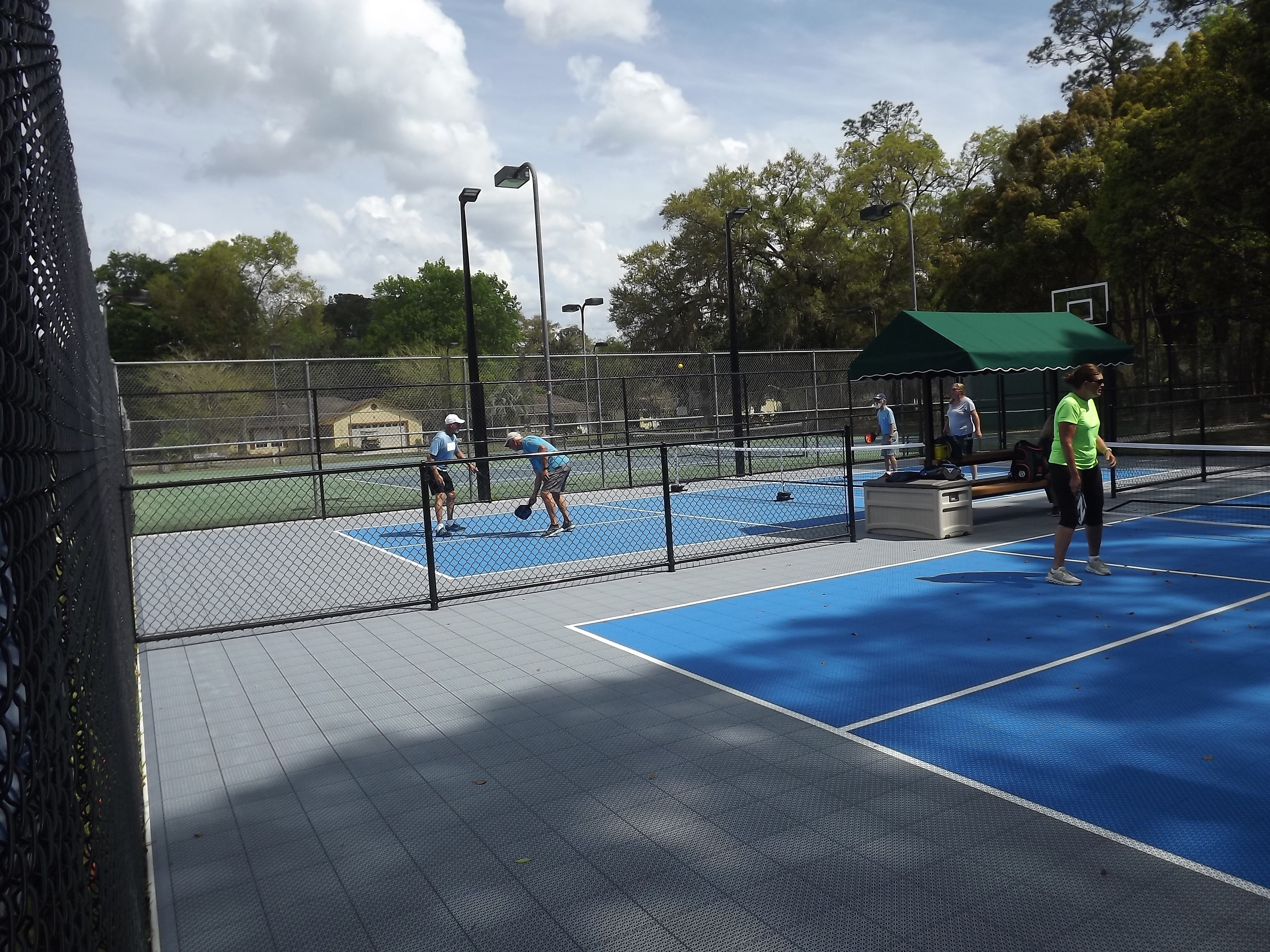 On the pickle ball court